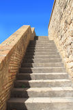 Old stone stairs of fortress Stock Photo