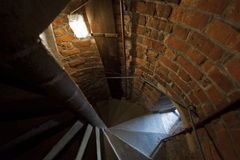 Old stone stairs in Krakow, Poland Royalty Free Stock Images