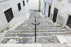 Old stone stairs in Lisbon Stock Photos