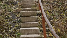 Old Stone stairs in in the Park.  stock video footage