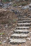 Old stone stairs up hill Stock Images