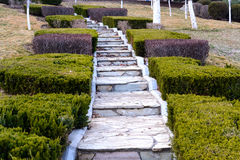 Old stone stairsway Royalty Free Stock Images