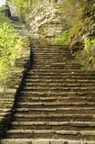 Old stone stairway. Outdoor natural stairway in a state park Stock Image