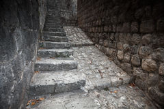 Old stone stairway goes up Royalty Free Stock Photos