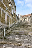 Old Stone Stairway Leading to a Church Up Above Royalty Free Stock Photography