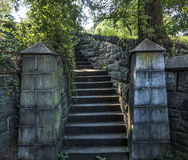 Old stone stairway Royalty Free Stock Photo