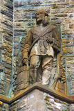 Old Stone Statue Of A Frontiersman Stock Photography