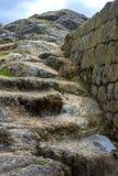 Old stone steps at Ingapirca Royalty Free Stock Photography