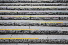 Old stone steps and leading up a dark alleyway Royalty Free Stock Images
