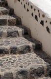 Old stone steps in Oia, Santorini, Greece. Royalty Free Stock Photo