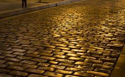 Old stone street in Greece Stock Photos