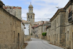 Old stone street of town Stock Photo