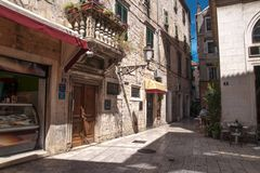 Old stone streets of Split, Croatia Royalty Free Stock Photos