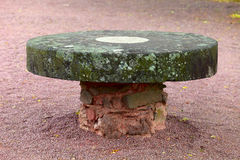 Old stone table Royalty Free Stock Image