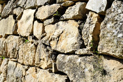 Old stone terrace wall. Royalty Free Stock Photos