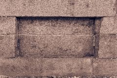 Old stone texture. Background of old stone texture and niche or deepening Stock Images