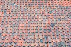 Old stone tiled roof in Norway, Europe Stock Images
