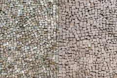 Stone tiles mosaic on the wall. Stock Photography