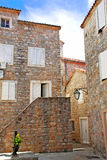 Old stone town in Montenegro - Budva. Old stone houses exterior in Budva, Montenegro Royalty Free Stock Photos