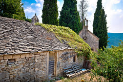 Old stone village of Skrip view Stock Image