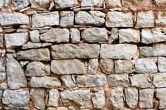 Old stone wall. Built on old way stock photography