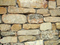 Old stone wall. Old rough stone wall texture Royalty Free Stock Image