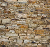 Old stone wall. Stone wall of an old house in Galicia, Spain Stock Image