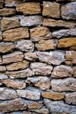 Old stone wall. Close up background Royalty Free Stock Images