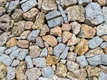 Old stone wall aged stock photos