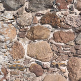 Old stone wall as abstract background. Outdoor photo of old stone wall fragment as abstract texture background Stock Images