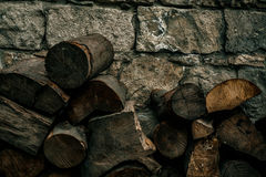Old stone wall background, brick wall grunge texture close up Stock Photography