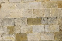 Old stone wall background. citywall France Normandy Royalty Free Stock Image