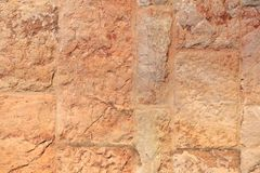 Old Stone Wall Background of a medieval Church, Spain stock images