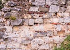 Old stone wall. At belgrade fortress, belgrade serbia Royalty Free Stock Image