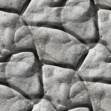 An old stone wall boulder seamless texture Stock Photography