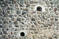 Old stone wall of castle Stock Images