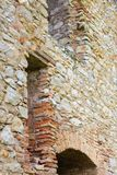 Old stone wall a castle ruin Stock Photos