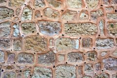 Stone Wall. Old stone wall castle surface royalty free stock photo