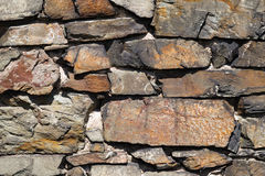 Old stone wall close up Stock Photo