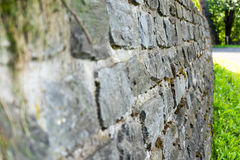 Old stone wall close up Stock Images