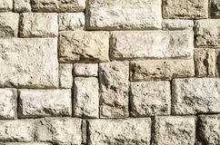 Old stone wall closeup Stock Photo