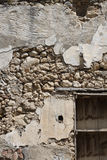 Old stone wall construction ruins Stock Photos