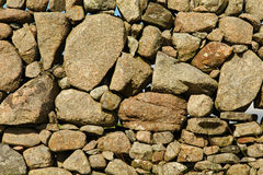 Old stone wall in Fionnphort, Isle of Mull, Scotland, UK Stock Photos
