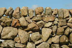 Old stone wall in Fionnphort, Isle of Mull, Scotland, UK Royalty Free Stock Images