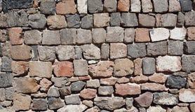 Old stone wall. Old fortress stone wall in Erebuni (Urartu), Armenia, Yerevan Stock Image