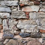 Old stone wall fragment Royalty Free Stock Photos