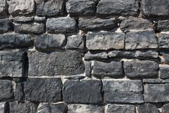 Old stone wall. stock images