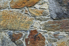 Old Stone wall. Image was taken in 2011 in Czocha Castel in Poland Royalty Free Stock Image