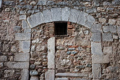 Old Stone Wall With Inbuild Arch Stock Photos