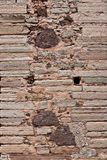 Old Stone Wall Mexico Stock Photo
